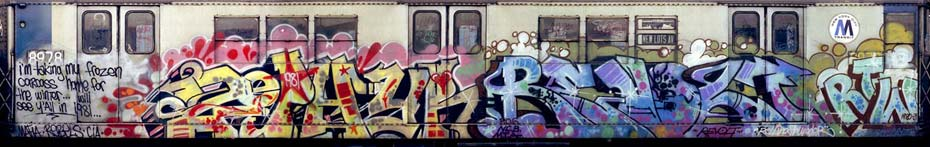 Zephyr Revold Window Down Burner on New York City Subway Car.