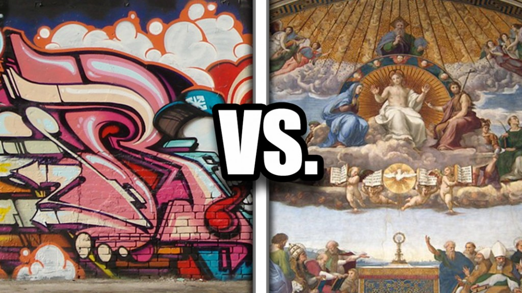 Graffiti versus the Renaissance